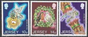 Jersey  411-3  MNH  International Peace Year