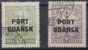 Poland - Offices in Danzig 1K11A-1K12 used (1926)