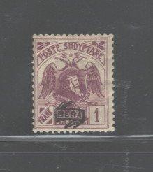 ALBANIA 1921  #140, OVERPRINT,  MH