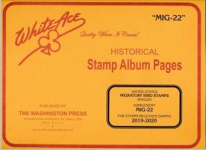 WHITE ACE Migratory Bird Singles 2019-2020 Stamp Album Supplement MIG-22