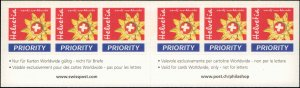 2002 Switzerland #1135a-1136a, Complete Set(2), Booklets of 6, Never Hinged