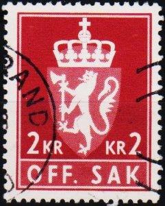 Norway. 1955 2k S.G.0749  Fine Used