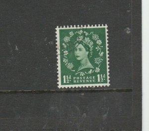 GB, 1958 Graphites Wmk Inverted 1 1/2d, VFU< SG 589Wi