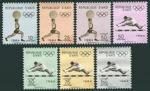 Haiti 510-512,C223-C226,MNH.Michel 780-786. Olympics Tokyo-1964. Weight lifting,