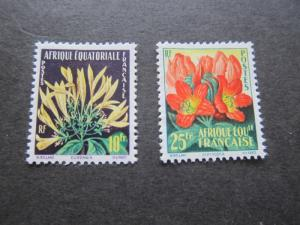 French Equatorial Africa 1958 Sc 200-1 set MH