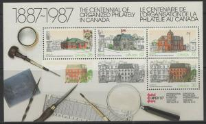 CANADA SGMS1231 1987 CAPEX 87 STAMP EXHIBITION MNH