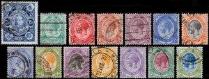 South Africa Scott 1, 2-13, 15 (1910-20) Used/Mint H F-VF, CV $31.75 C