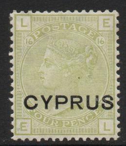 CYPRUS SG4 1880 4d SAGE-GREEN MTD MINT