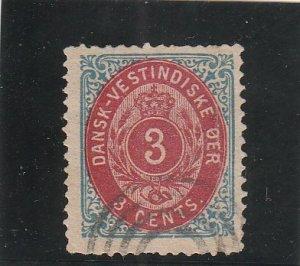 Danish West Indies  Scott#  6  Used  (1874 Numeral)