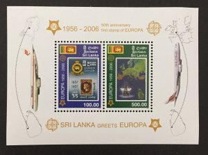 Sri Lanka 2006 #1540a S/S, Europa 50th Anniversary, MNH.