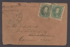 **CSA Cover, SC# 1(2) Charlottesville, VA 1/24/1862 Forwarded to Texas