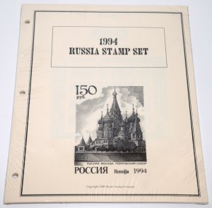 RUSSIA 1994 Stamp Set Album Pages for Postage Collection Mystic
