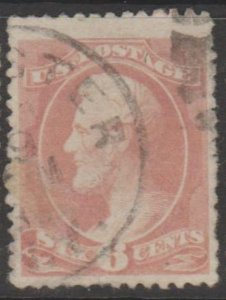 U.S. Scott #208 Lincoln Stamp - Used Single - IND