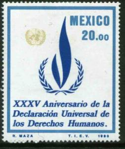 MEXICO 1337, 35th Anniv of the Human Rights Declaration MNH