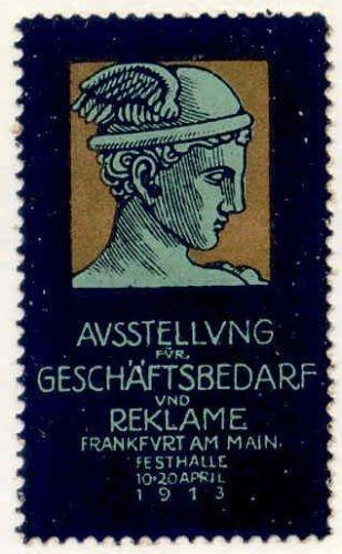 Germany 1913 Frankfurt Expo Poster Stamp by Klinger