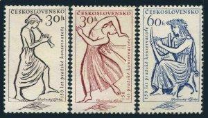 Czechoslovakia 1044-1046,MNH.Michel 1265-1267. Prague Conservatory,150.1961.