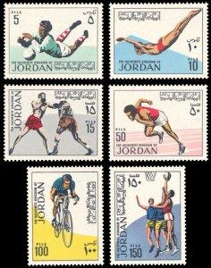 Jordan 1970 Scott #651-656 Mint Never Hinged