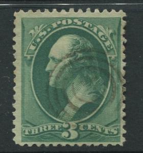 USA - Scott 184 - Washington - Used - 1879 - Single 3c Stamp