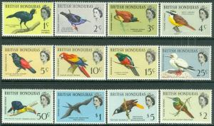 EDW1949SELL : BRITISH HONDURAS 1962 Scott #167-76 Birds Cplt set VFMOGLH Cat $85