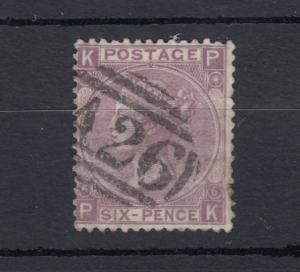 GB QV 6d Lilac SG97 Plate 6 Used A26 Gibraltar J2515