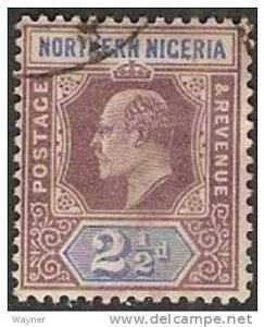 Northern Nigeria 1902 Scott 13 wmk crown and CA used