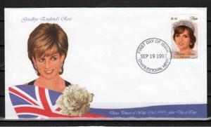 Nevis, Scott cat. 1030 C. Princess Diana on a First day cover.