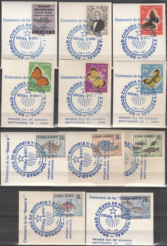 Cuba #608-9, C185-91, E26-7  F-VF Used CV $22.80 (A17443)