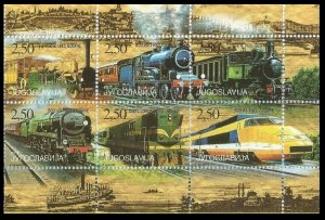 1998 Yugoslavia 2880-2885 Locomotives 9,00 €