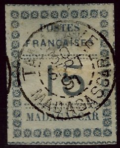 Madagascar SC#10 Used VF hr SCV$32.50..Worth a close look!!