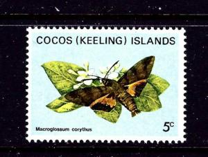Cocos Is 89 MNH 1982 Butterfly