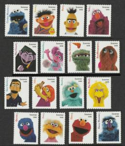 US 5394a-5394p 5394 Sesame Street forever set (16 single stamps) MNH 2019