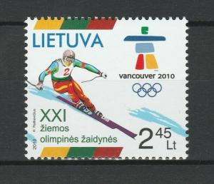 Lithuania 2010 Olympic Games - Vancouver MNH stamp