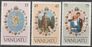 Vanuatu #308-10   MNH (S9639)