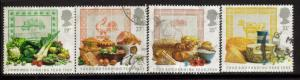 Great Britain Sc 1248-51 1989 food farming stamps used