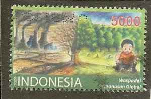 Indonesia    Scott  2185   World Environment Day    Used