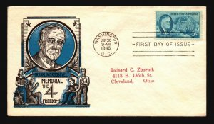 US SC# 933 FDC / Staehle Cachet - Z18486