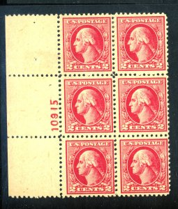 526 MINT PL# BLOCK F-VF OG LH Cat $240
