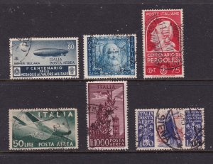 Italy a 6 good cv used items from 1940-50's mainly