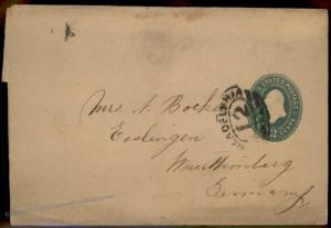 USA Germany Philadelphia  PA Transatlantic Wrapper Postal Stationary Entir 87685