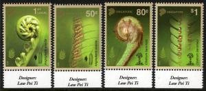 Singapore 1654-1657, MNH. Ferns, 2014