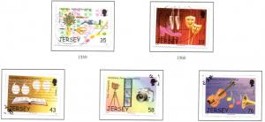 Jersey Sc 1306-10 2008 Festivals stamp set used