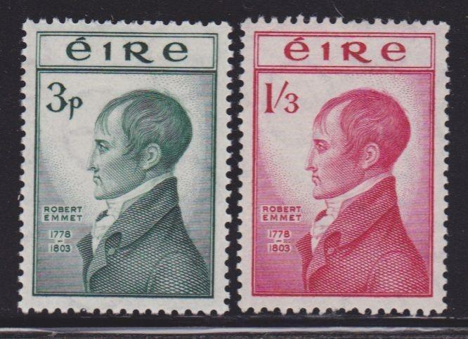 Ireland 149-150 lightly hinged set with nice colors scv $ 75 ! see pic !