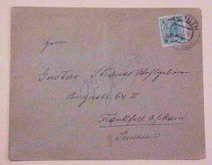 PALESTINE  AUSTRIA CRETE JERUSALEM 1905 #1A cat.$160.00 TO GERMANY