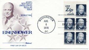 US FDC #1393b Eisenhower Pane, Fleetwood (1996)