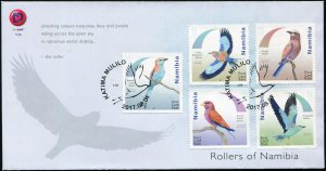 Namibia. 2017. Rollers of Namibia (Mint) First Day Cover