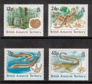 BRITISH ANTARCTIC 1991 Dinosaurs; Scott 172-75, SG 188-91; MNH