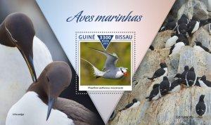 GUINEA BISSAU - 2019 - Sea Birds - Perf Souv Sheet - M N H