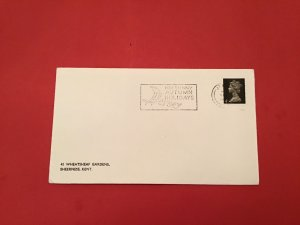 U.K Jersey for Sunny Autumn Holidays Special Cancel stamp cover R36080