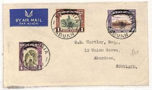 V119 1948 NORTH BORNEO AIR British Admin *Victoria Labuan*CDS Cover Aberdeen