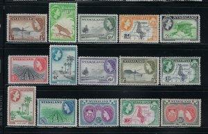 NYASALAND SCOTT #97-111 1953 QEII PICTORIALS - MINT XXXLIGHT HINGED